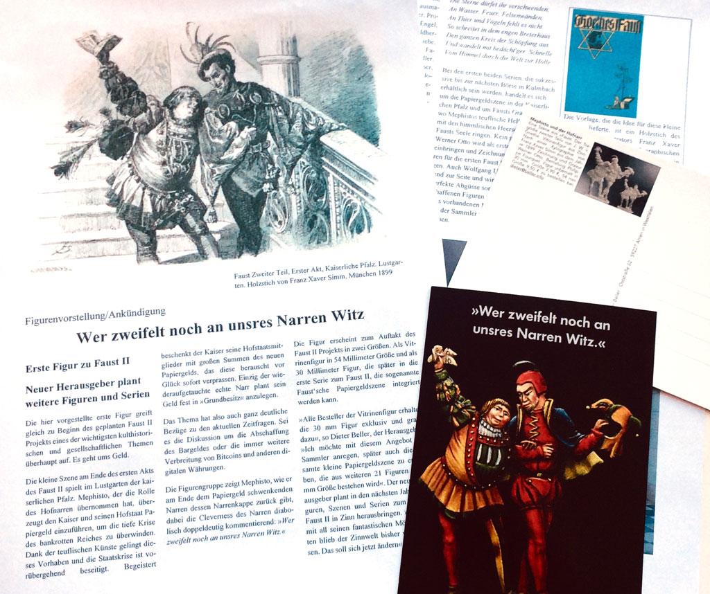 Ein zweiseitiger Flyer und eine Postkarte mit Hintergrundinformationen und Bemalungsvorschlägen gehören zum Lieferumfang.