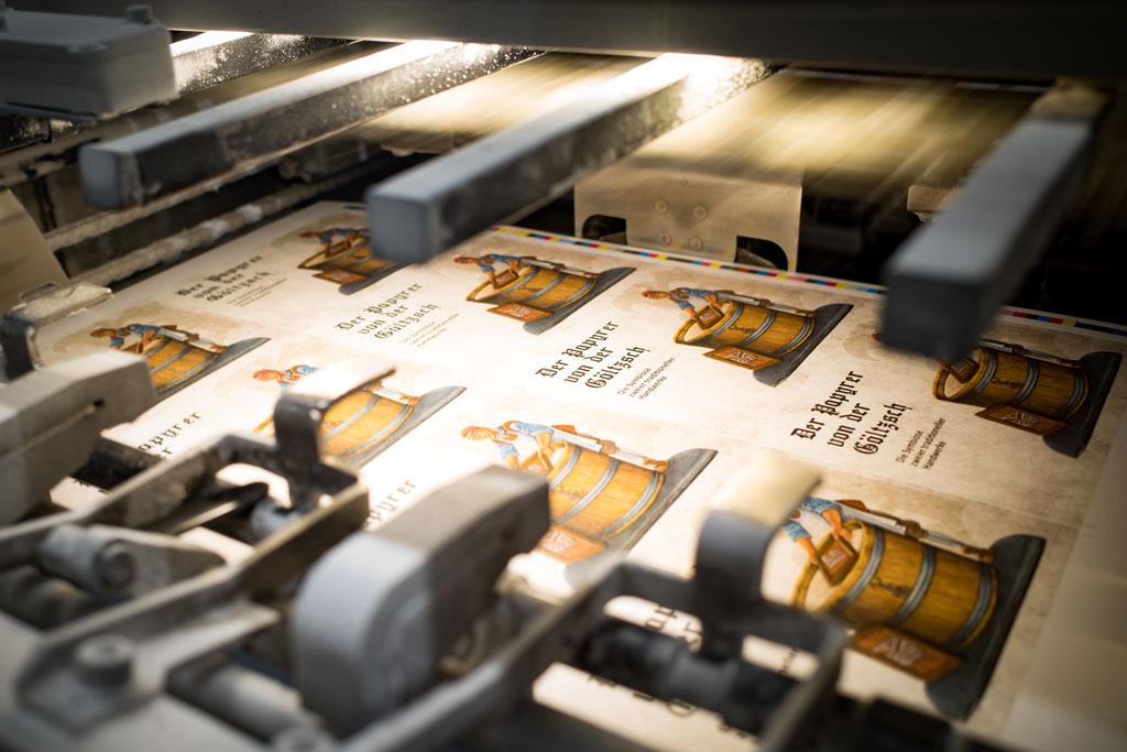 Druck der Papyrer Verpackung